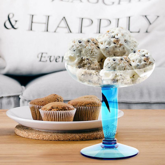Ice cream glass Venezia Amore Vero (16cm) blue