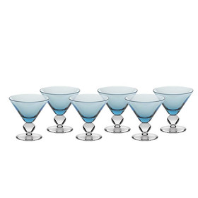 Eiscremeglas Cocktail 6er-Set Colori Vero 11cm hellblau