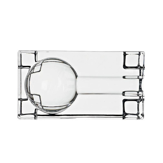 Cigar Ashtray Casablanca 13x7 cm (5.10x2.75 in), transparent, lead crystal
