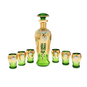 Liqueur set Green Queen 7 pieces