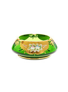Ashtray Green Queen 18 cm (7.1 in), green/gold, glass