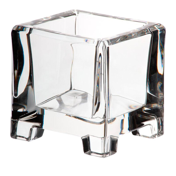 Candle holder LUCIO 8cm transparent lead crystal