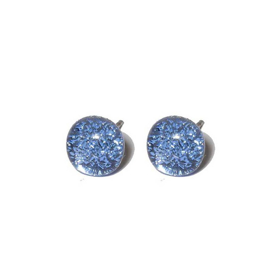 Ohrstecker mit Glasperle Blue Stone Fusing