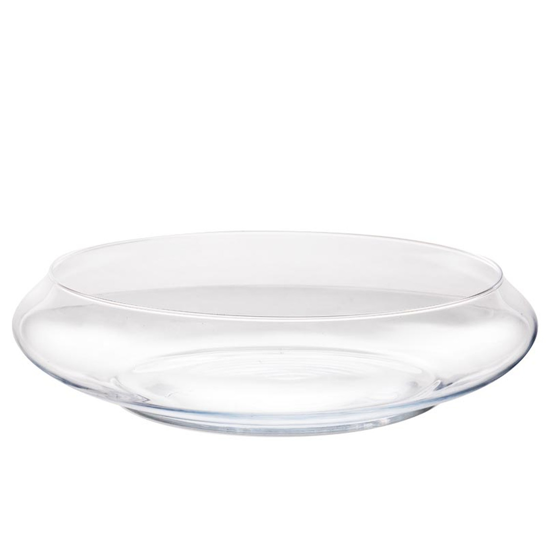 Glass Bowl Xxl Decorative Bowl Glass Round Transparent 40cm Cristal 76 00
